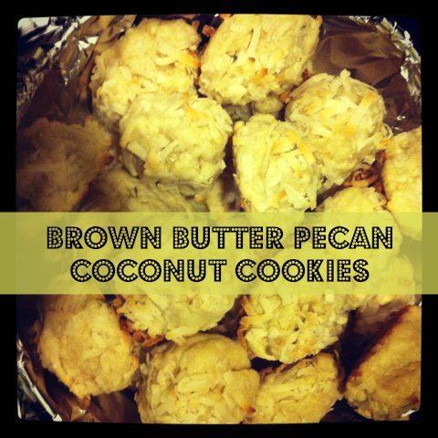 Brown Butter Pecan Coconut Cookies