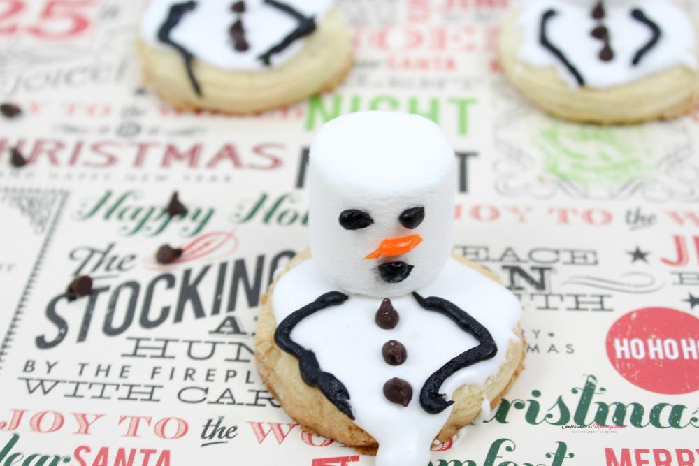 Melting Snowmen Cookies Horizontal 2