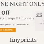 Stamp Of Approval This Holiday Season with Tiny Prints – 40% Off Tonight ONLY