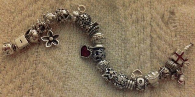 my valentine bracelet with older love charms included - Pandora Valentines Bracelet