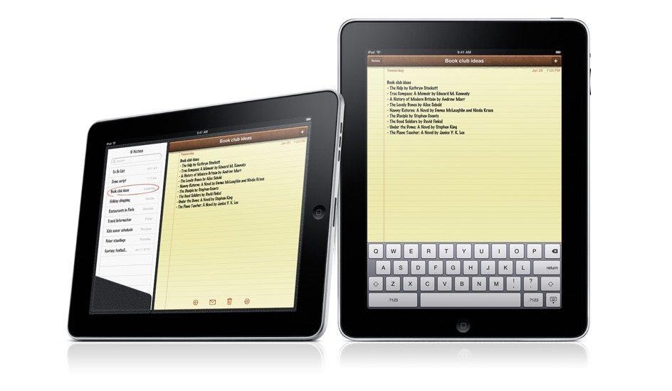 Apple iPad Notes App