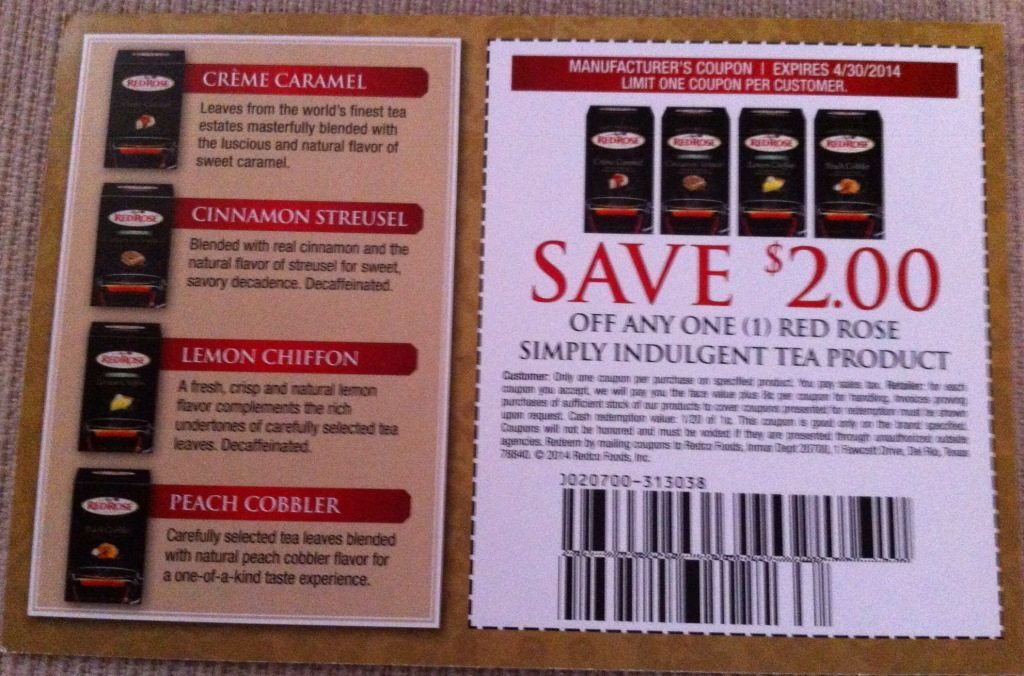 Red Rose Tea Coupon