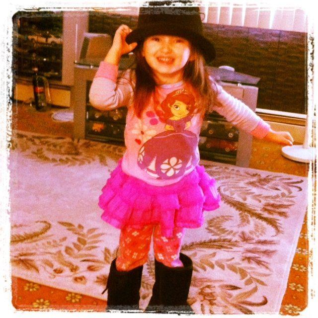 Emma Playing Dress-up