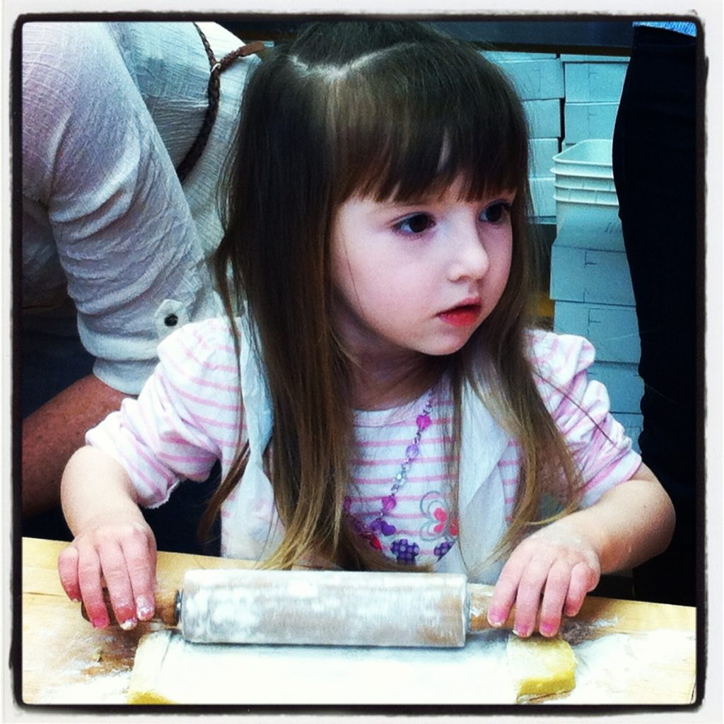 Lily at a Cookie Baking Party