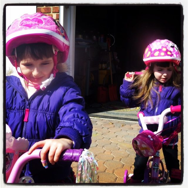 Girls Bike Riding
