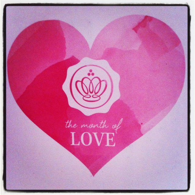 February 2014 GLOSSYBOX - Month of Love Card Insert