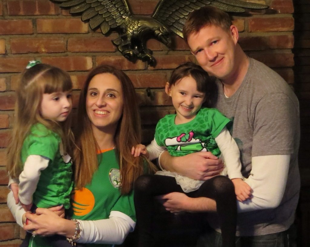 Our Family on St. Patrick's Day