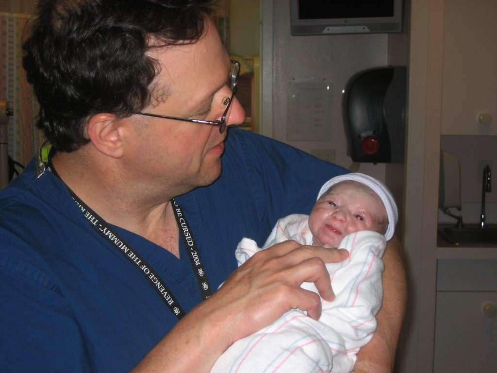 Emma Minutes After She Was Born Being Handed to Me For the First Time By My Doctor