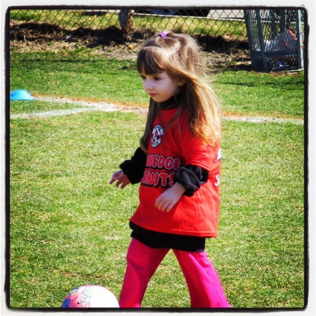 Lily 1st Day of Spring Soccer