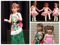 Emma and Lily Dressed Up in Their Old Dance Recital Costumes