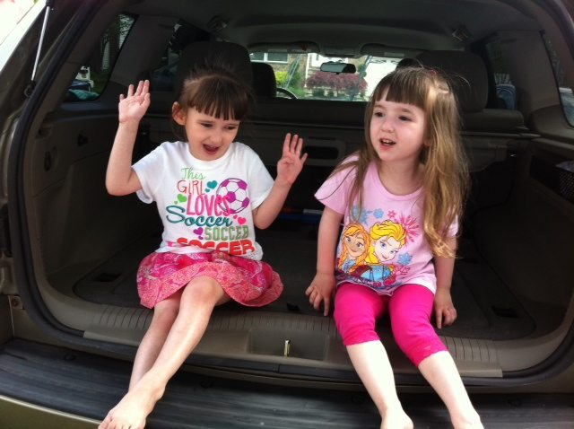 Having Fun in Dad's Car After He Washed and Cleaned Their Snack Disaster from the Back Seat