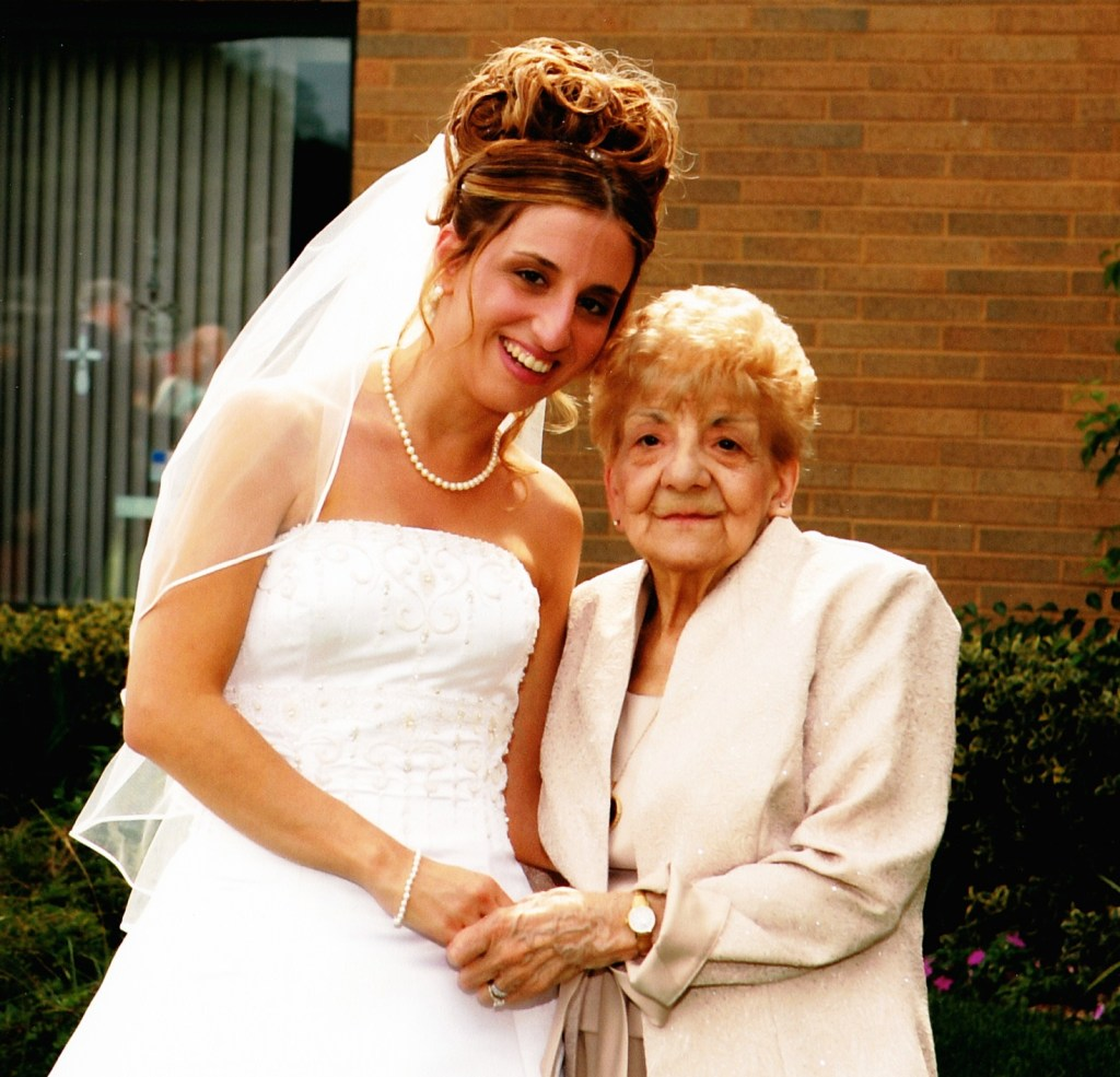 My Grandmother and I in 2006 at My Wedding