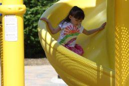 Emma getting her slide on