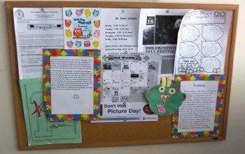 Newly Hung Bulletin Board