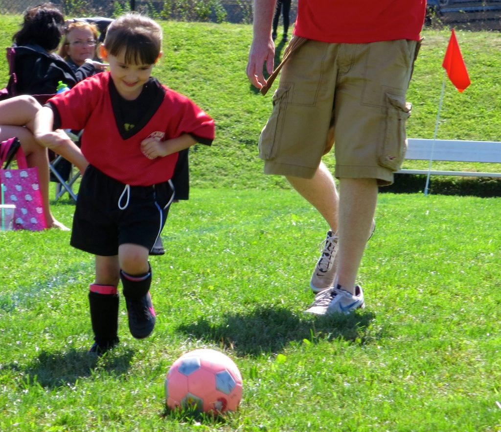 Second Week of Soccer - Emma Playing