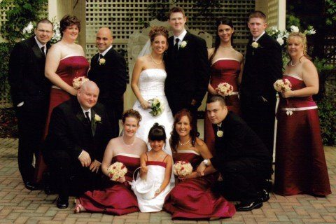 My Wedding - July 2006 - AnneMarie was a bridesmaid (she is sitting on the bottom right-hand side).