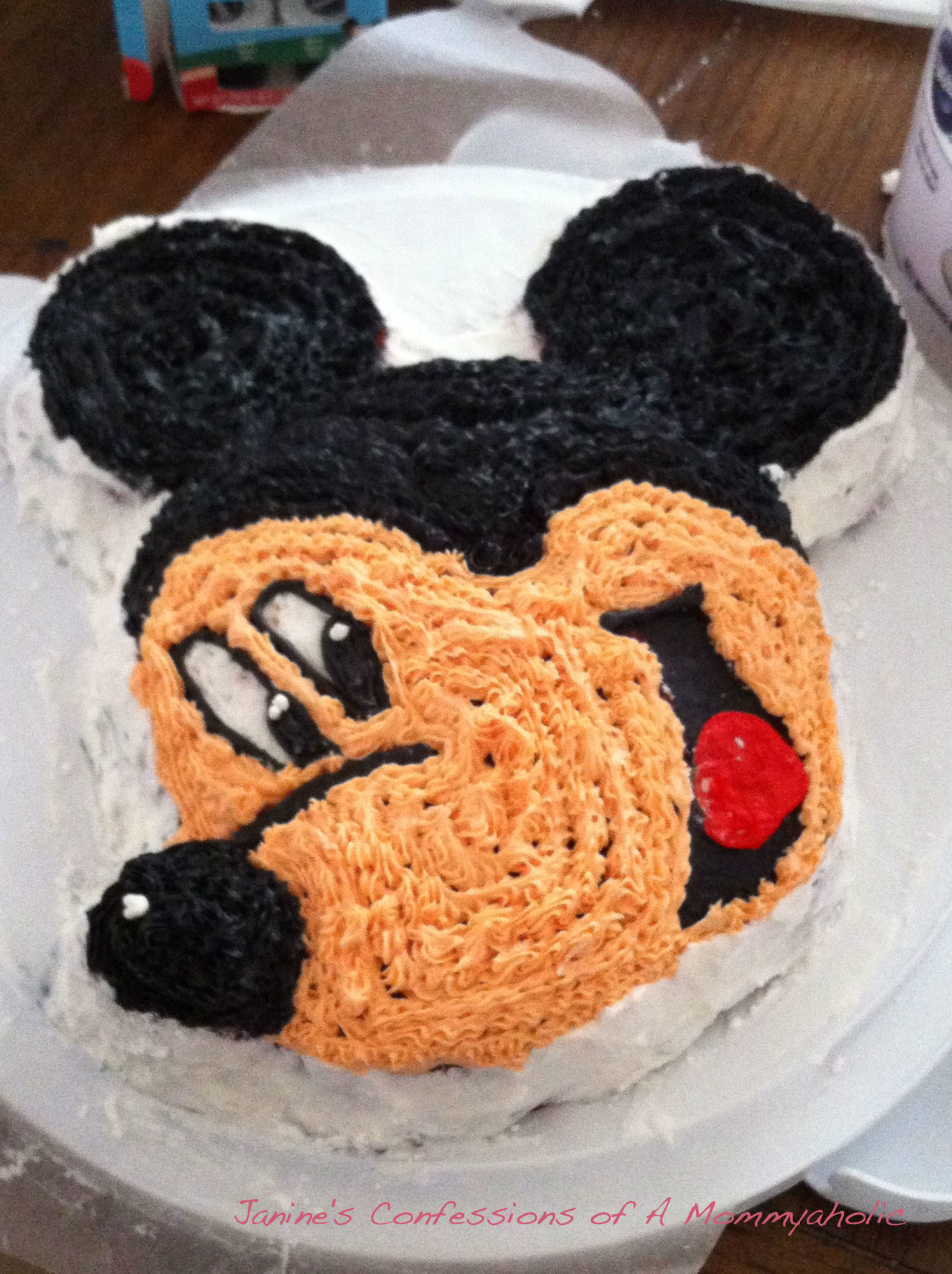 Lily's Mickey Mouse Cake from Her First Birthday