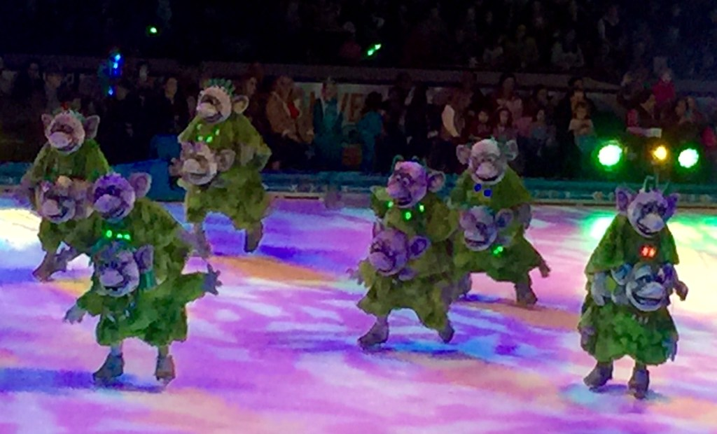 The Trolls Doing Their Thing in Frozen On Ice