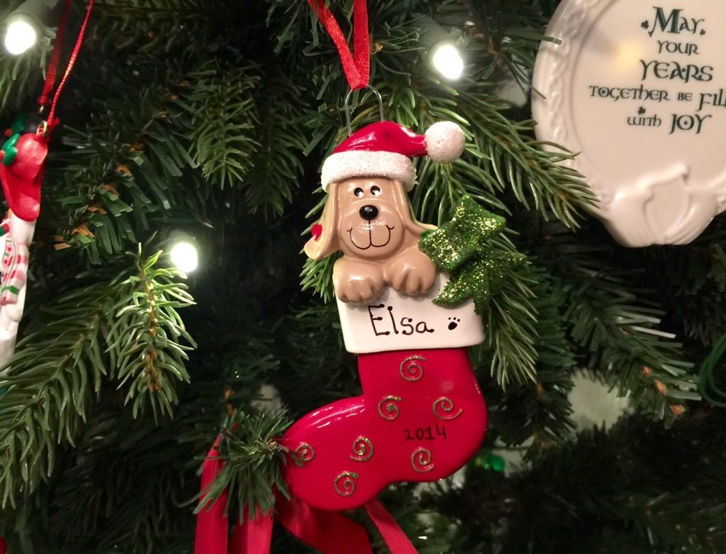 Elsa Puppy Ornament 2014