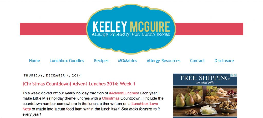 Keely McQuire Blog Screenshot