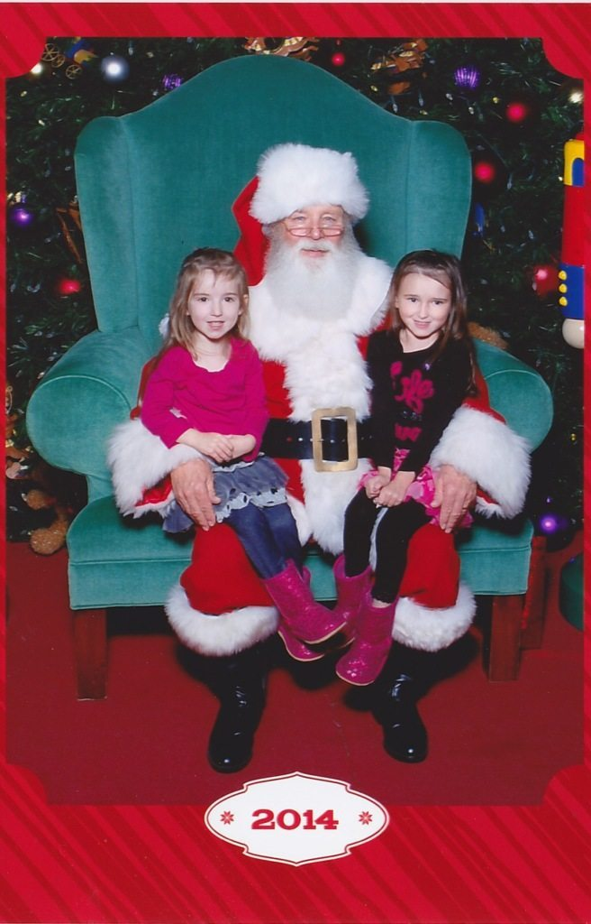 The Girls with Santa 2014