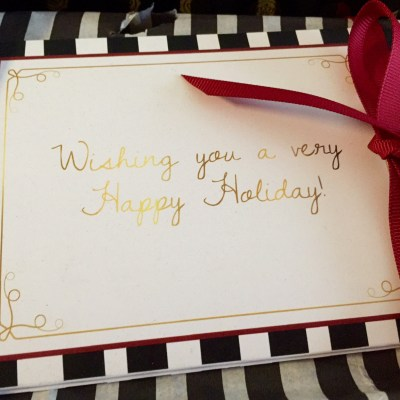 Holiday 2014 GLOSSYBOX Card