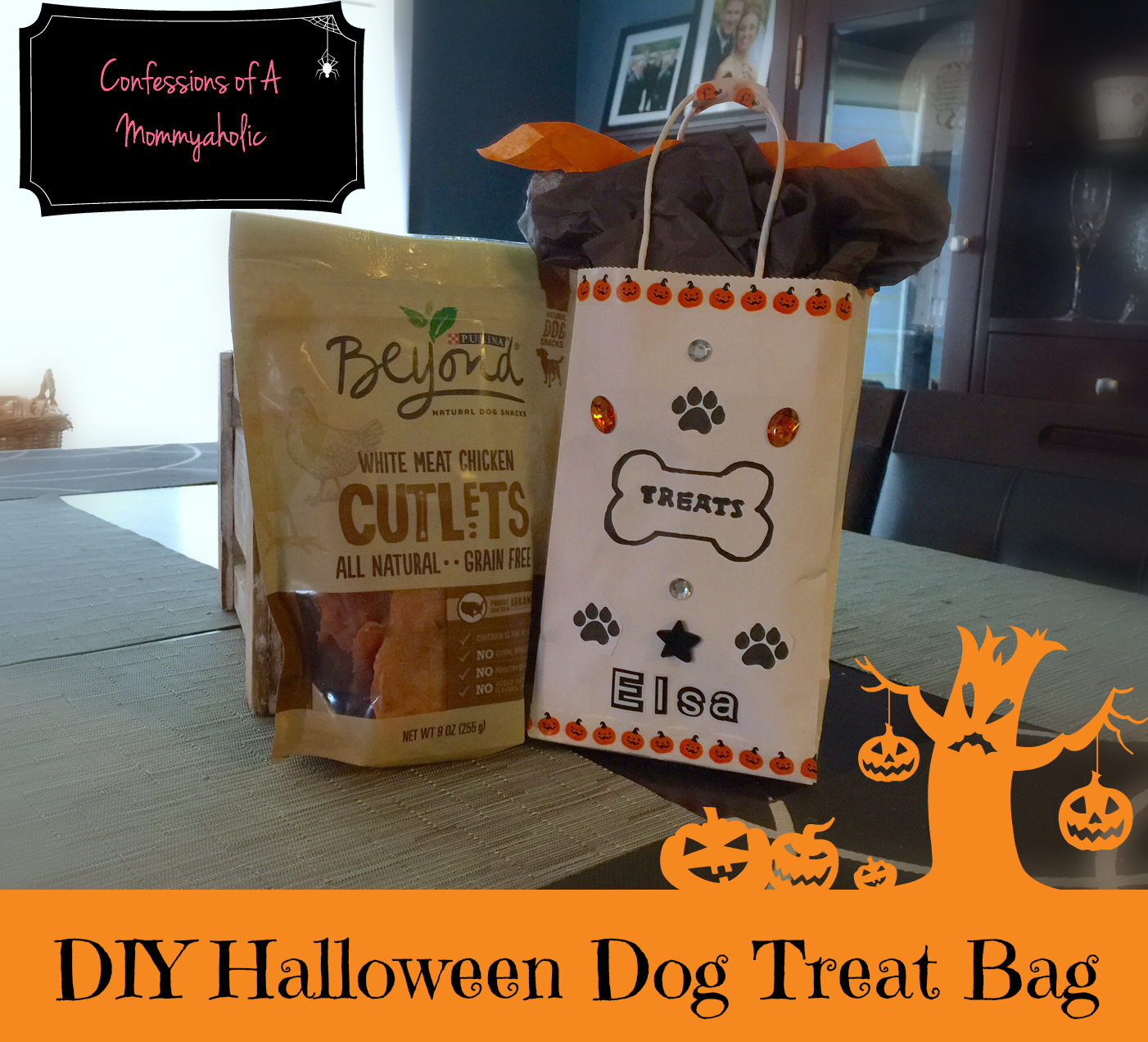 DIY-Halloween-Dog-Treat-Bag-Purina-#BeyondSnacks-#Ad