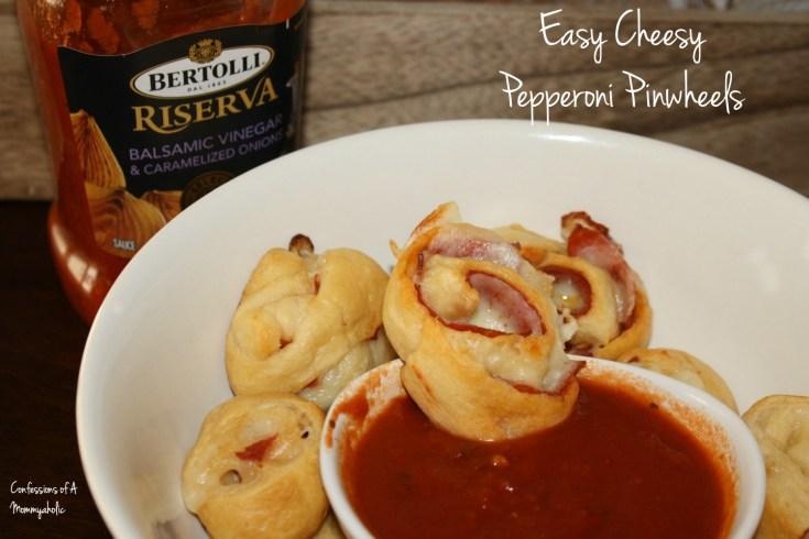 Easy Cheesy Pepperoni Pinwheels