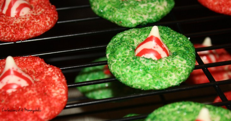 Edited Peppermint Candy Thumbprint Cookies on Cooling Rack