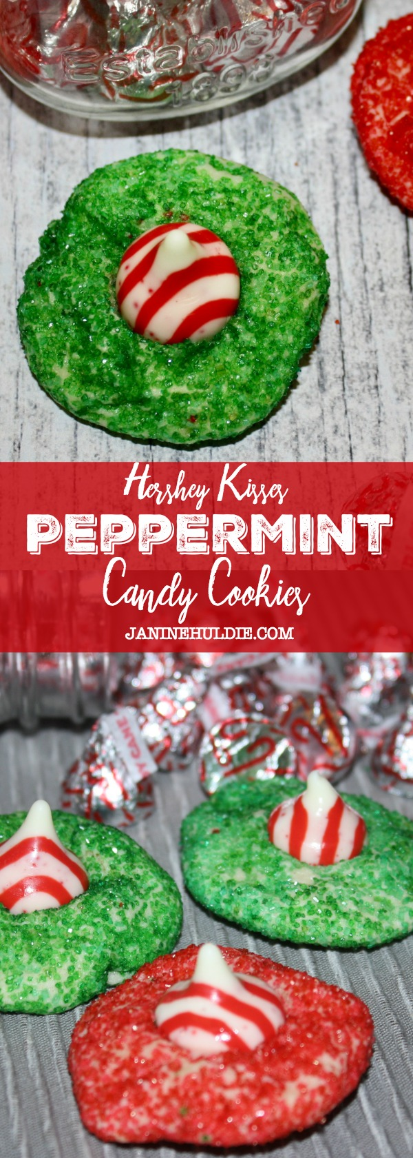 hershey kisses peppermint candy cookies