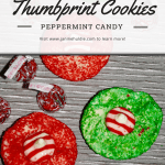 Hersey Kisses Peppermint Candy Thumbprint Cookies Recipe