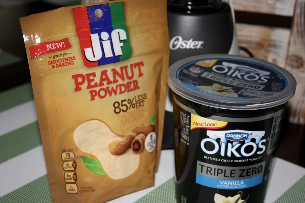 JIF Peanut Powder and Oikos Yogurt