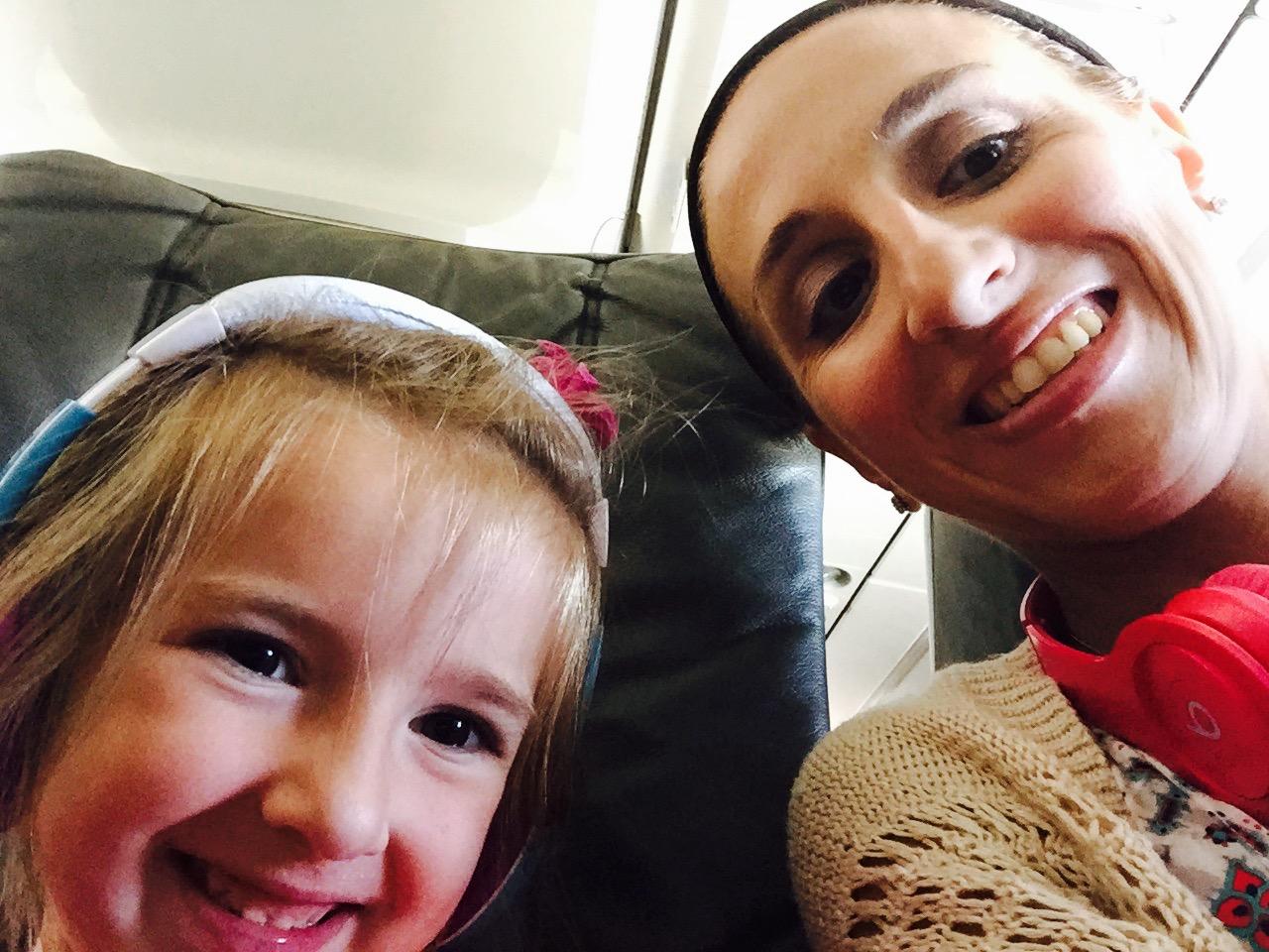 Fun Selfies on the Plane