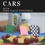 Race Day Fruit Cars with Free Printable Plus Sciatic Back Tips