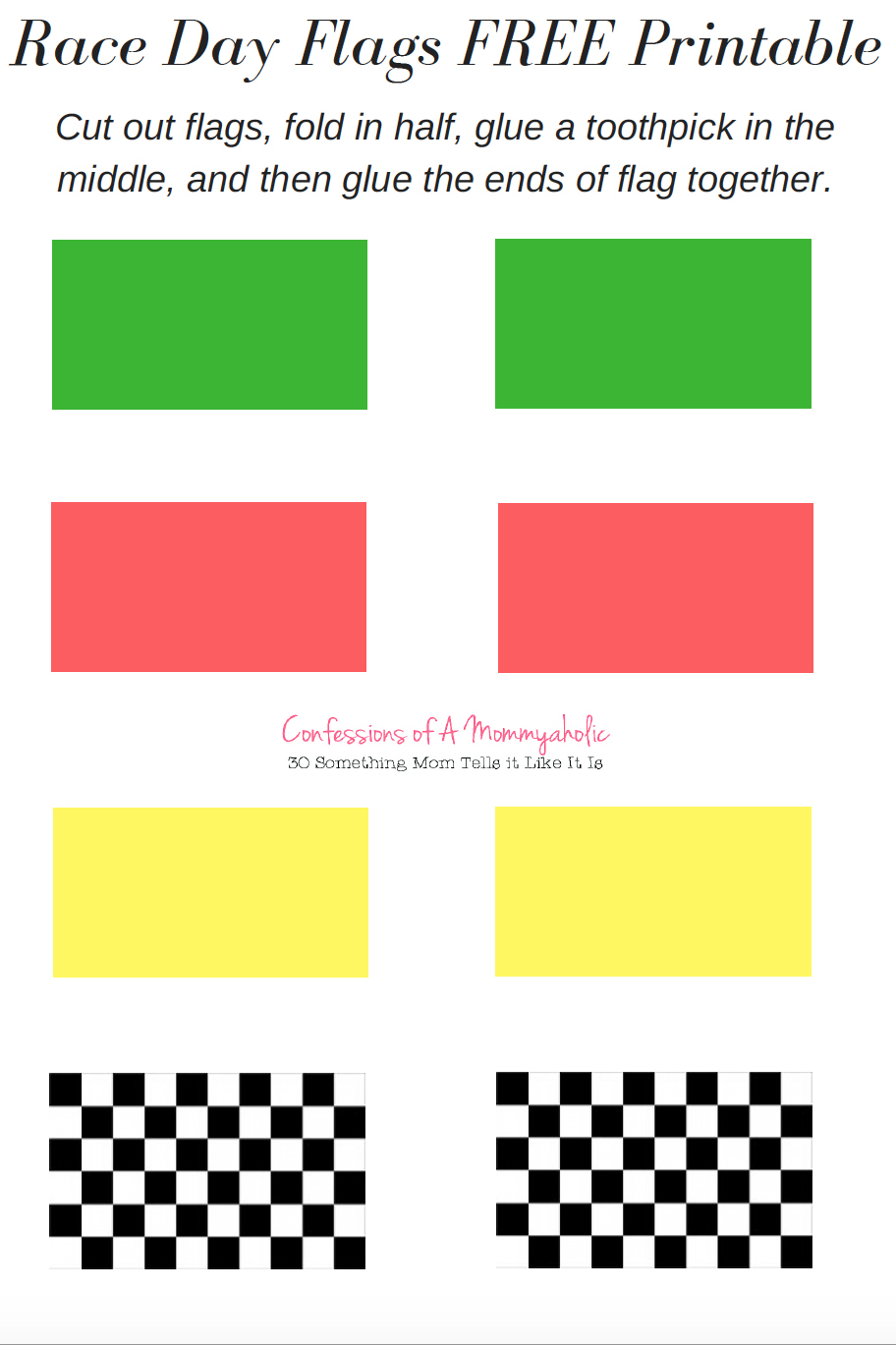 Race Day Printables Flags