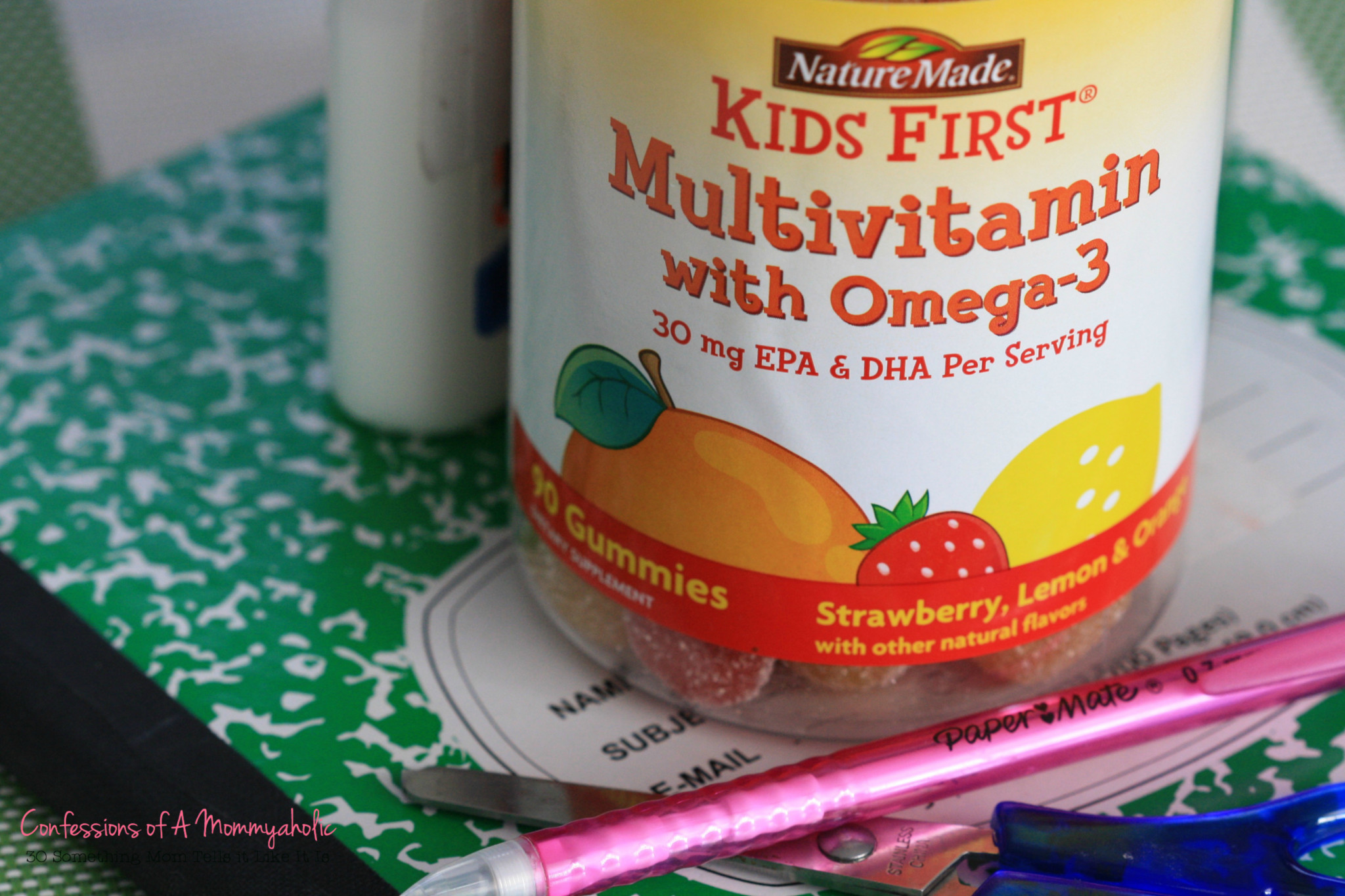 Closeup of Nature Made Kids First Multivitamin