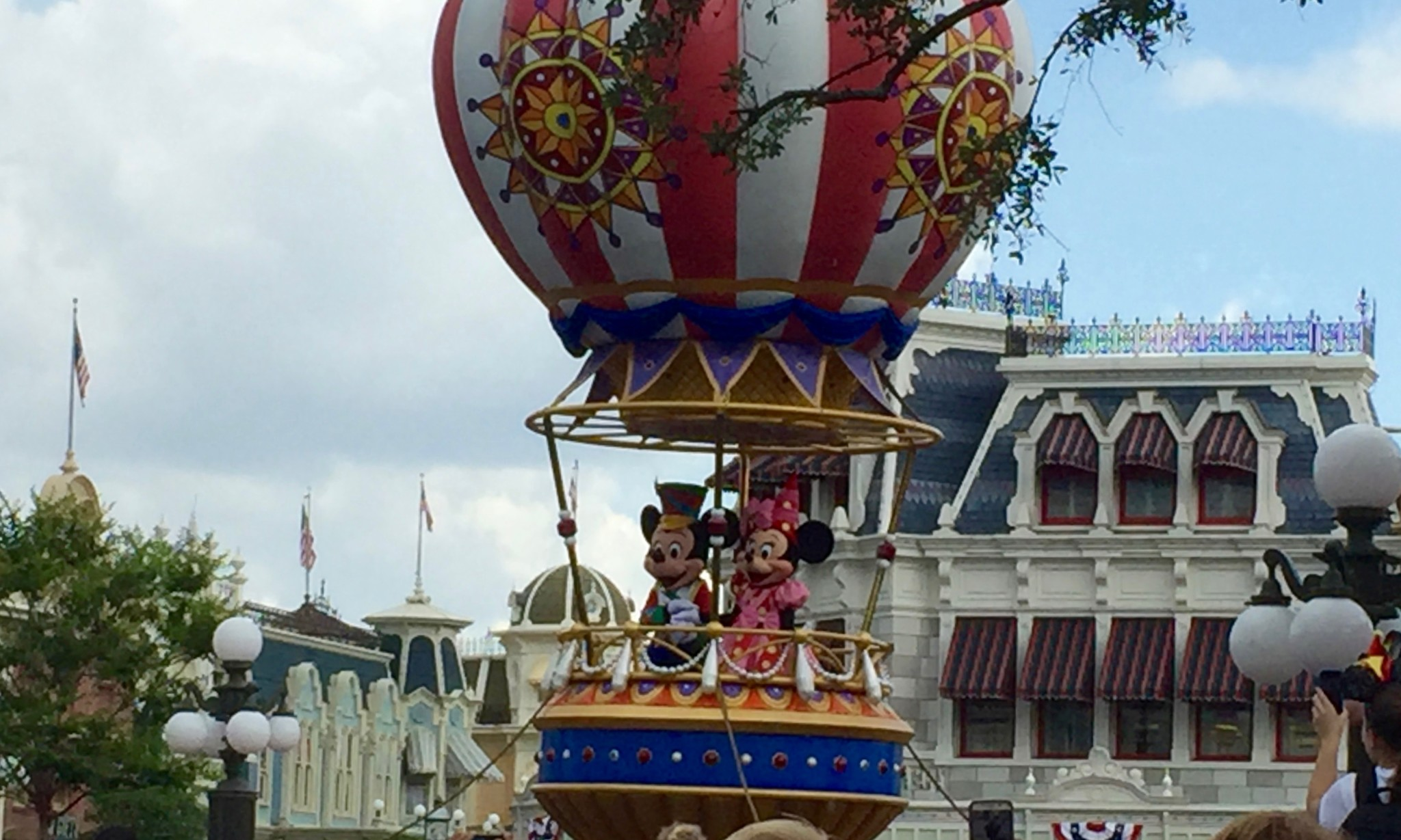 Mickey and Minnie Mouse Float for Magic Kingdom Main Street Parade