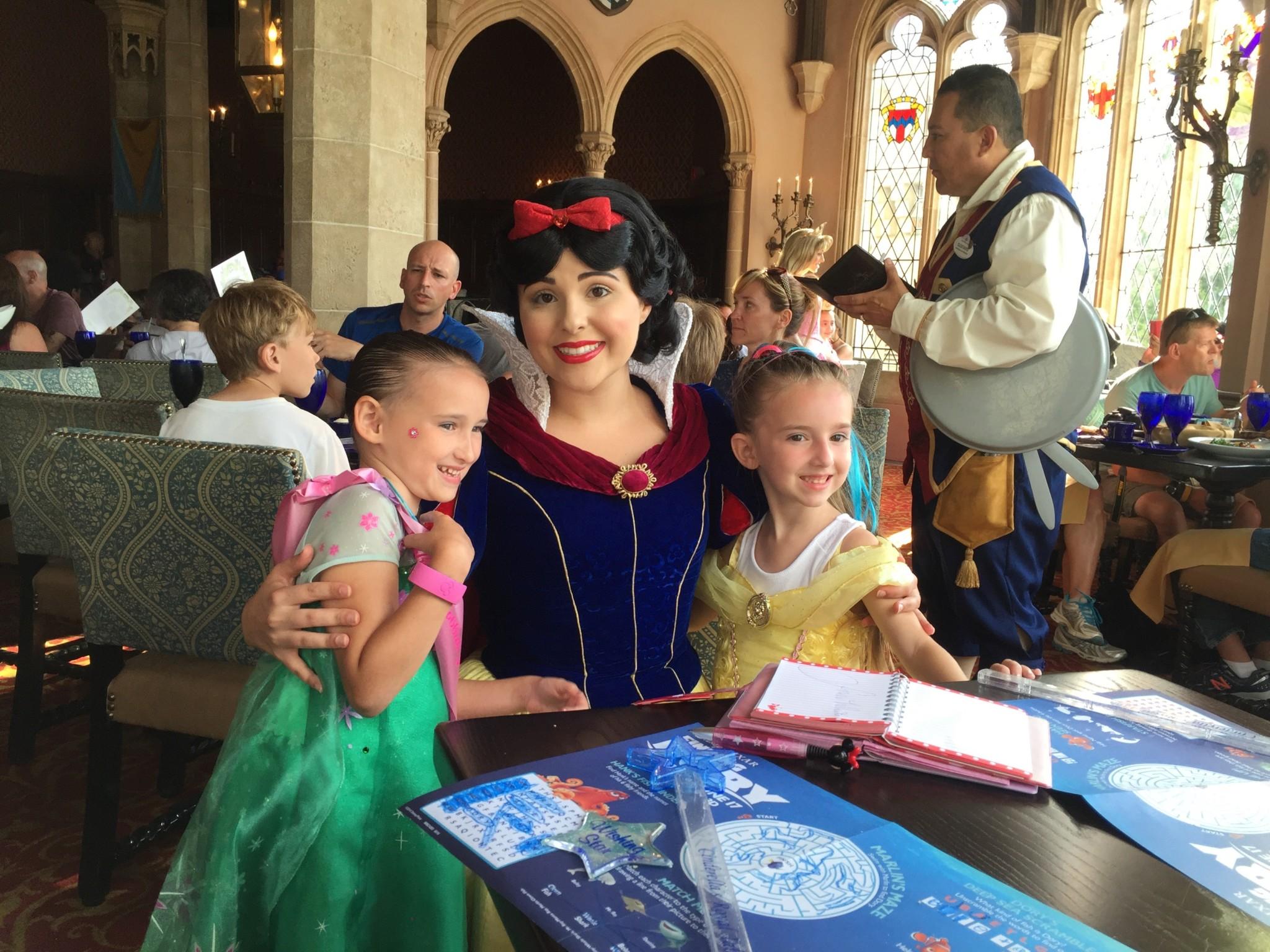 Princess Snow White and the Girls at Magic Kingdom Royal Table