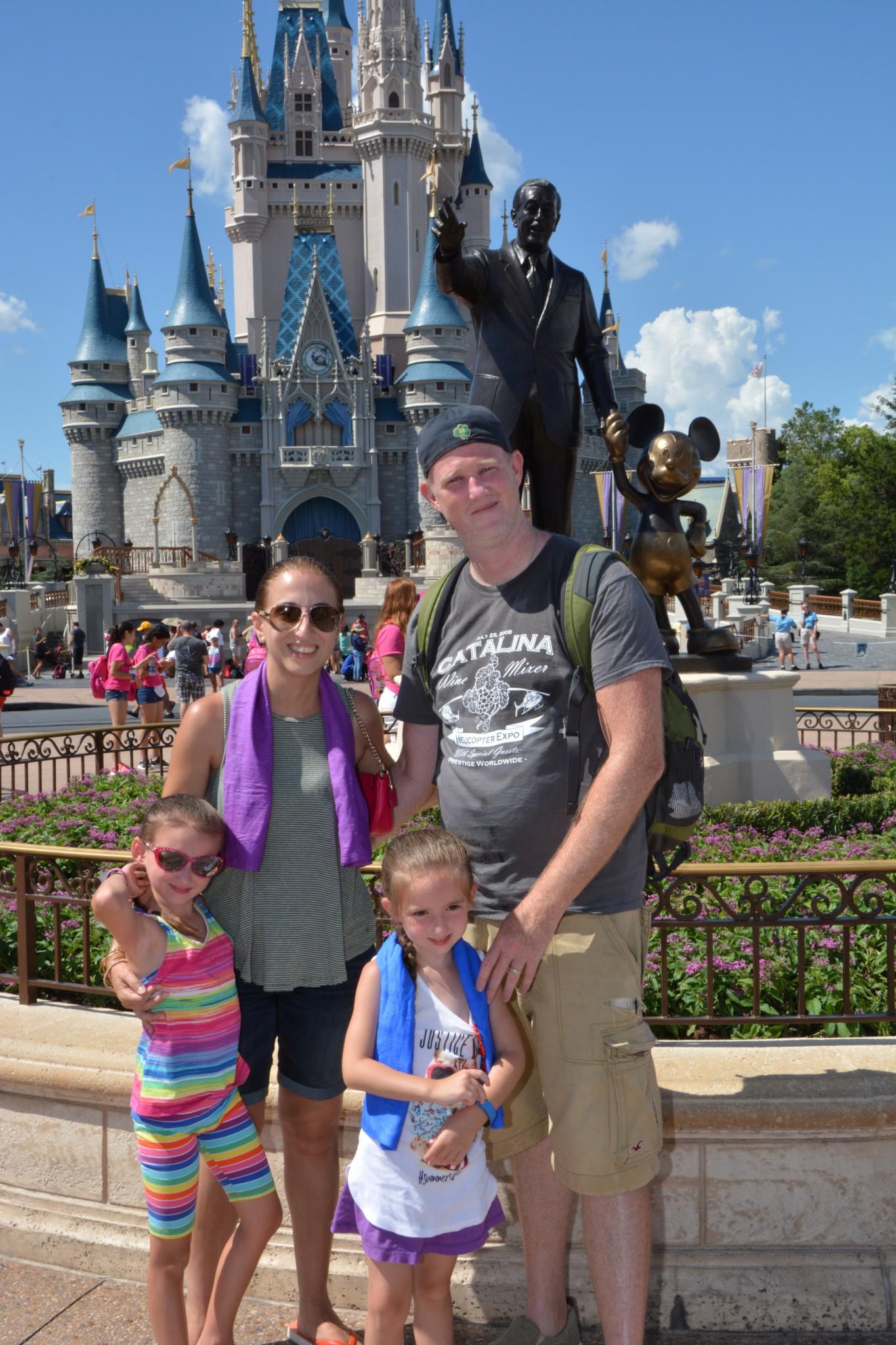 Disney World Posing in front of Cinderella's Castle