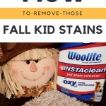 How to Remove Those Fall Kid Stains