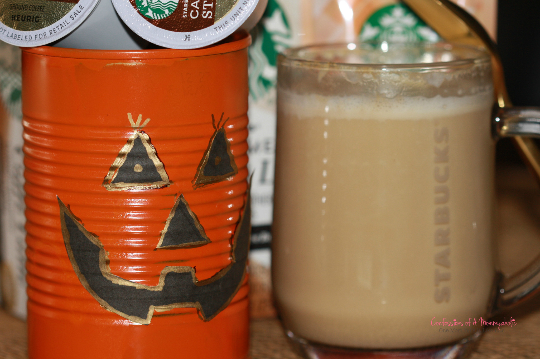 Jack O'Lantern Holder and Starbucks Latte by Confessions of A Mommyaholic