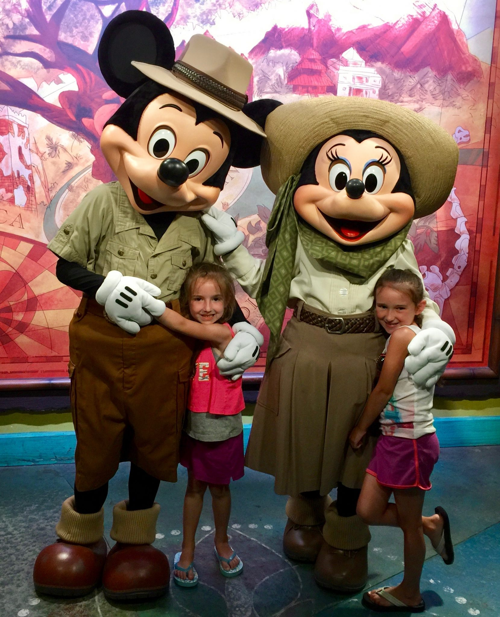 Mickey Mouse and Minnie Mouse at Disney World's Animal Kingdom