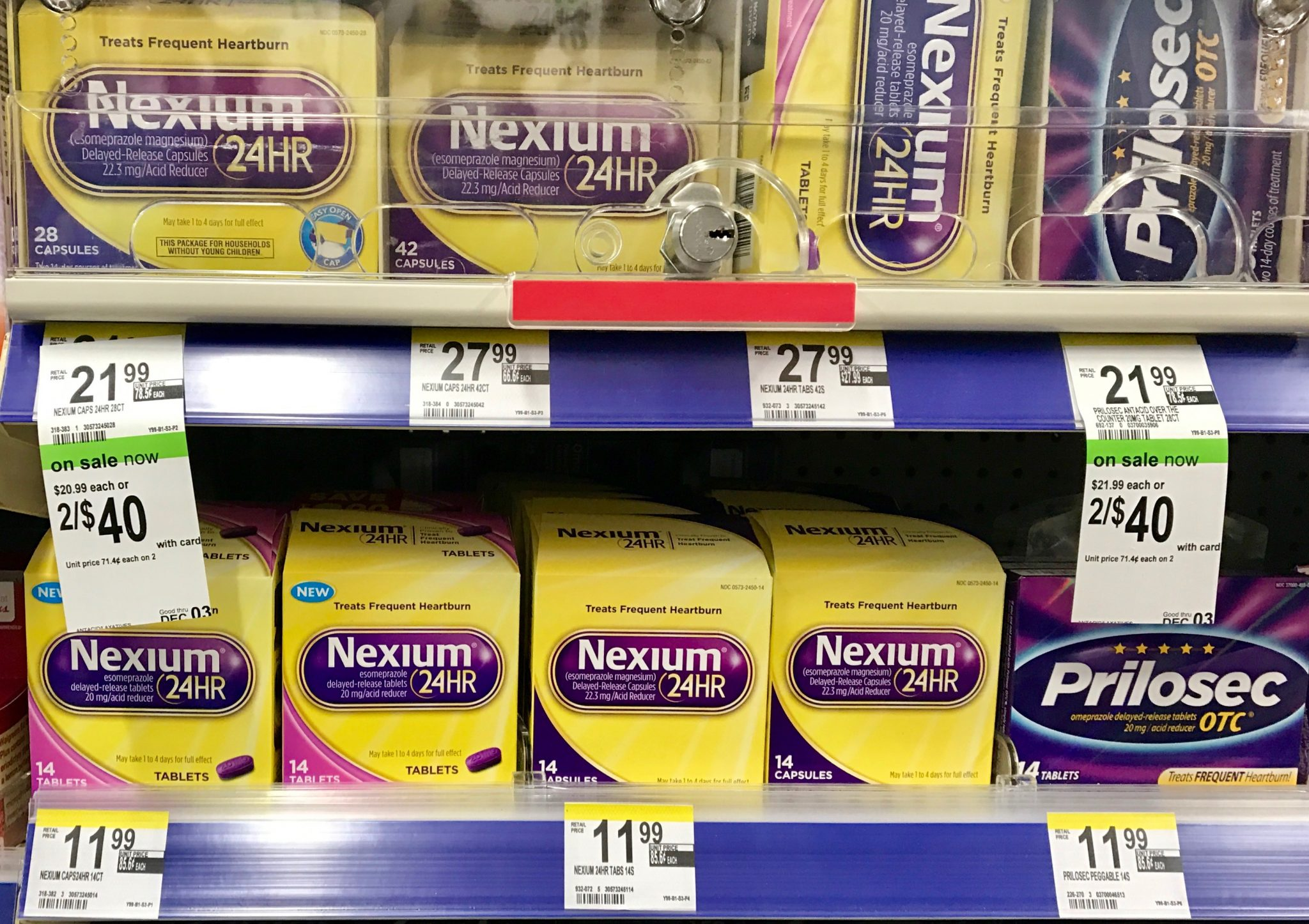 Nexium shelf at Walgreen
