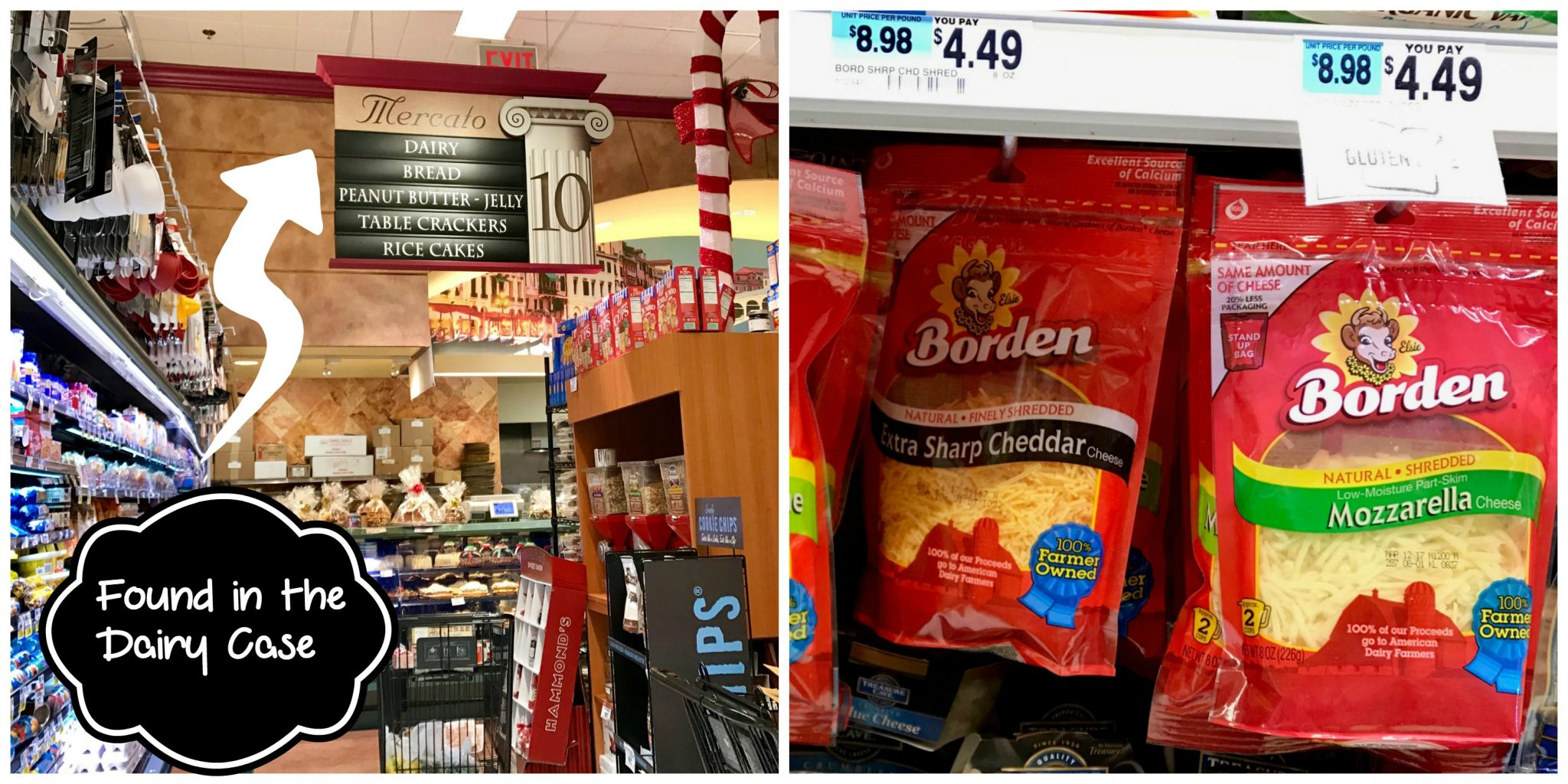 Borden Cheese Store Collage