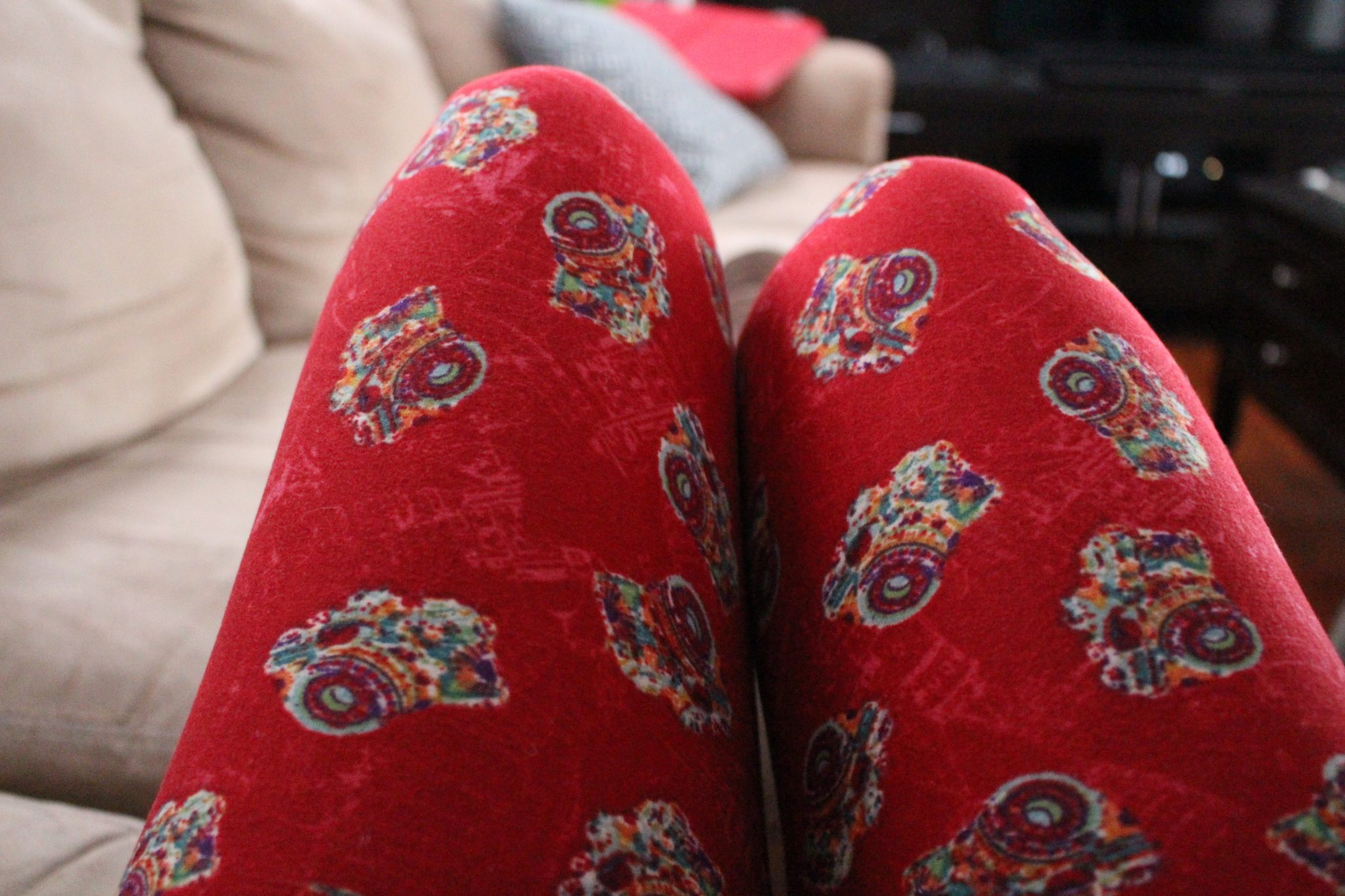 Red Camera Lularoe Leggings