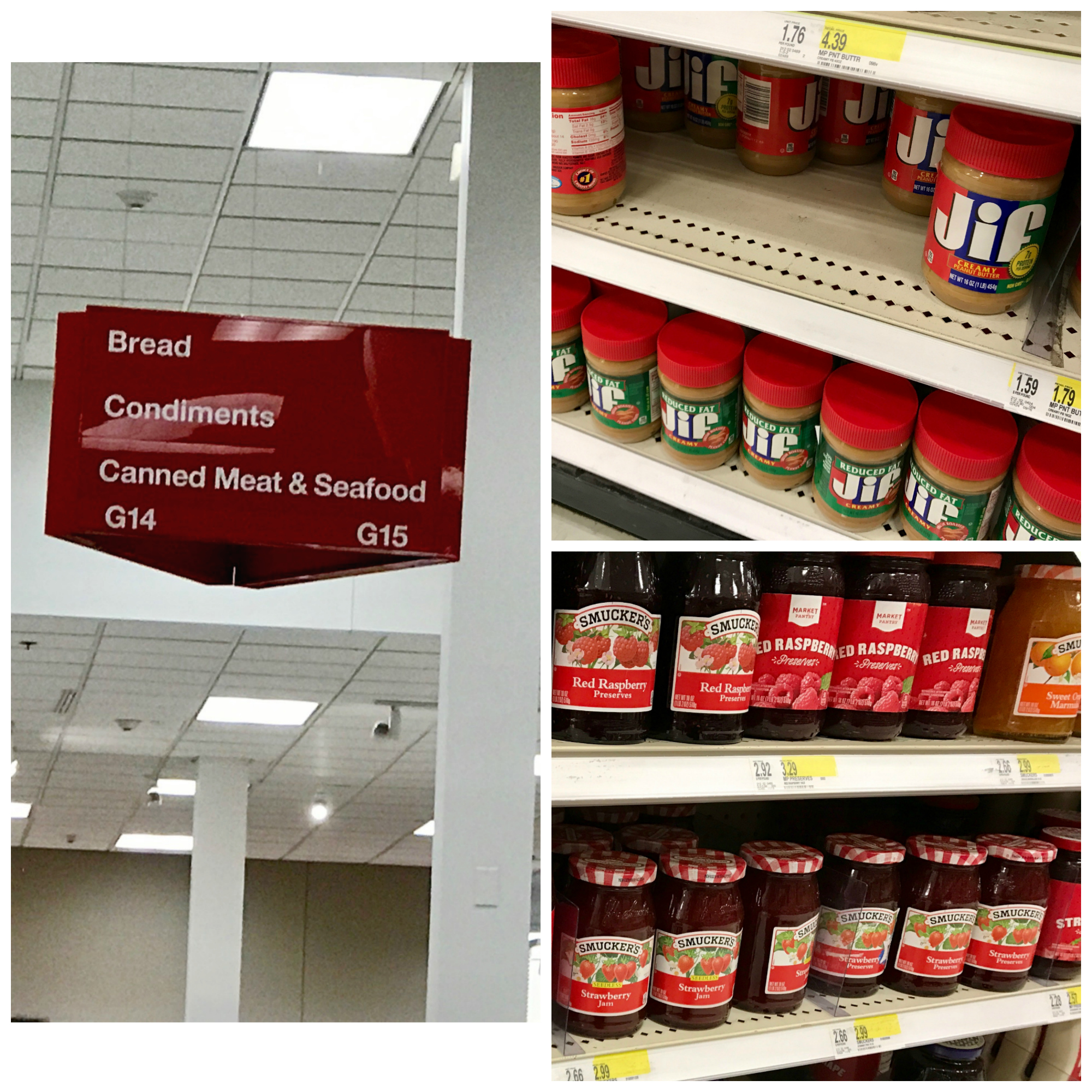 Smuckers and JIF Products at Target
