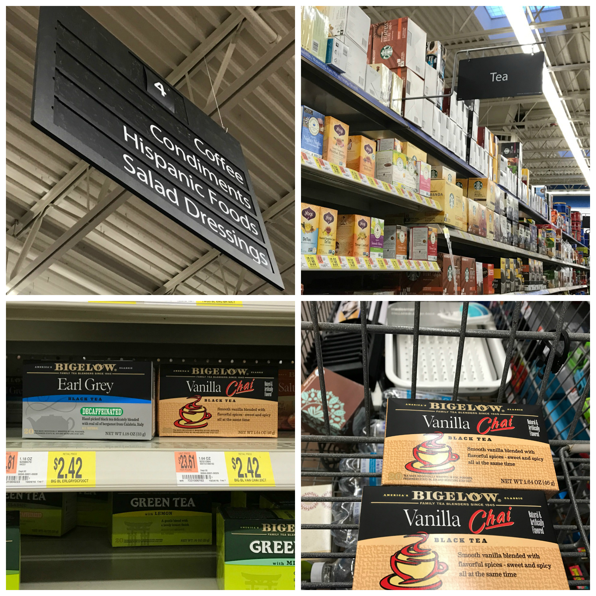 Bigelow Tea at Walmart Product Shot