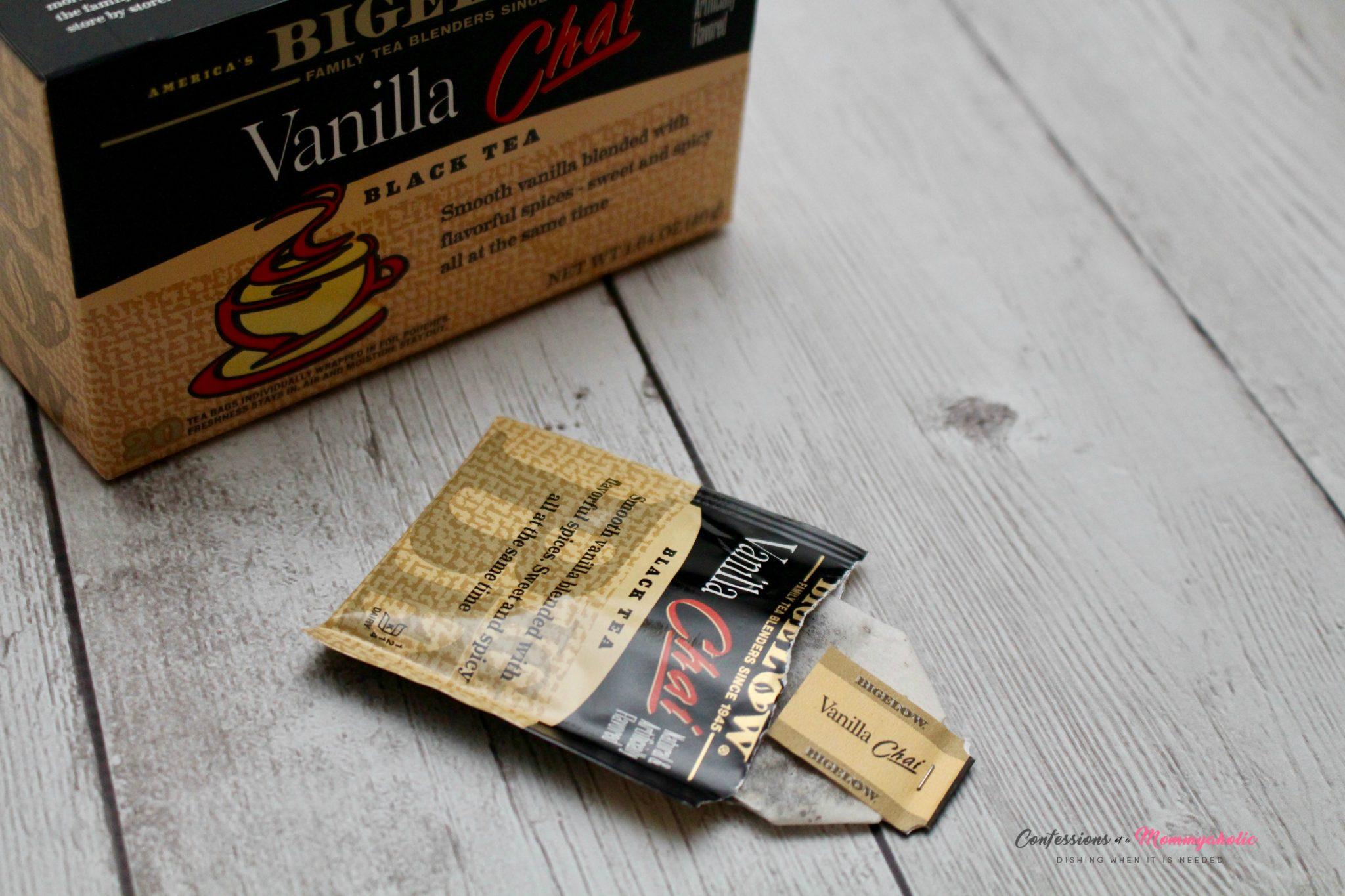 Opened Bigelow Vanilla Chai Tea Bag