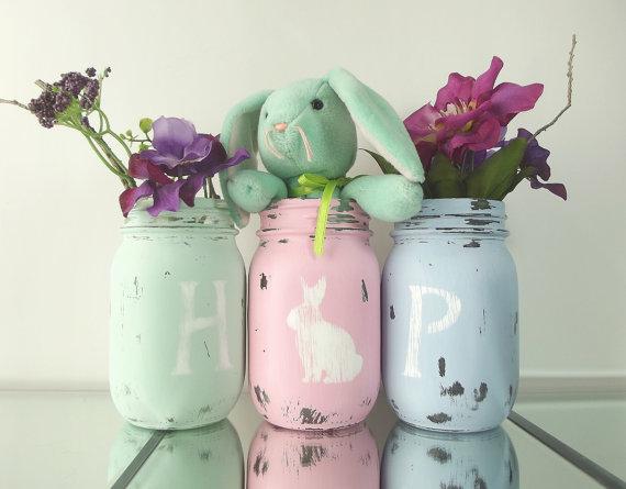 Easter HOP Mason Jars