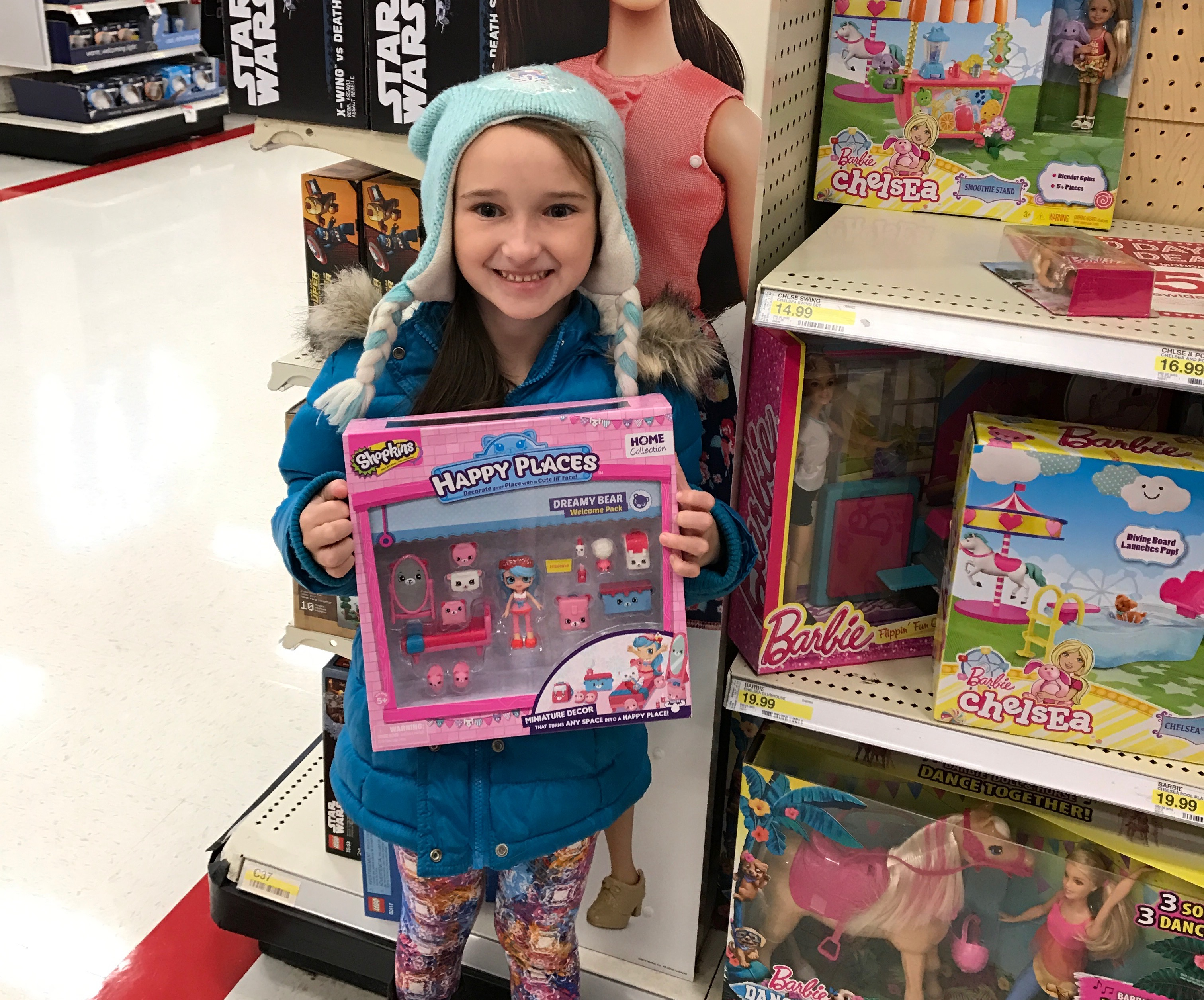 Emma Shopping for Toys for Tots
